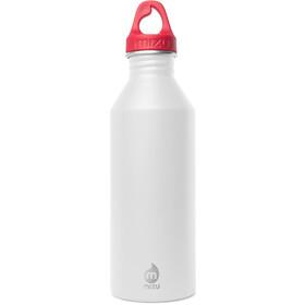 MIZU M8 Drinkfles with Red Loop Cap 800ml rood/wit